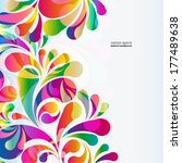 abstract colorful arc drop... | Shutterstock .eps vector #177489638