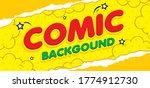 pop art comic background with ... | Shutterstock .eps vector #1774912730