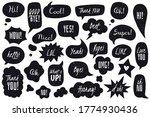 black doodle speech bubbles... | Shutterstock .eps vector #1774930436