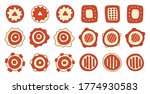 set of orange abstract circles. ... | Shutterstock .eps vector #1774930583