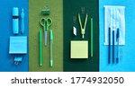 stationery set on black...   Shutterstock . vector #1774932050