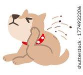 illustration of a dog... | Shutterstock .eps vector #1774932206