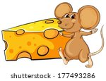 Illustration Of A Brown Mouse...