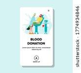 blood donation volunteer in... | Shutterstock .eps vector #1774934846