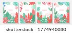 vector set floral background ... | Shutterstock .eps vector #1774940030