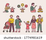 diverse family composition with ... | Shutterstock .eps vector #1774981619