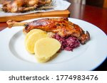 Roast Duck  Goose With...