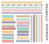 scrapbooking tape collection or ... | Shutterstock .eps vector #1774987343