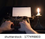 the typewriter that has been... | Shutterstock . vector #177498803