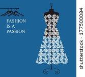 dress on a mannequin | Shutterstock . vector #177500084