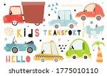 cute kids transport set on... | Shutterstock .eps vector #1775010110