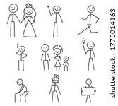 stick figures characters vector ... | Shutterstock .eps vector #1775014163