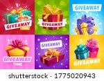 giveaway gifts  competition... | Shutterstock .eps vector #1775020943