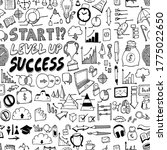 business doodle background... | Shutterstock .eps vector #1775022650
