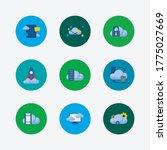 cloud technology icons set. big ...