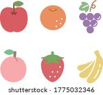 set of flat and simple icons of ... | Shutterstock .eps vector #1775032346
