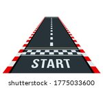 start and finish on the go kart ... | Shutterstock .eps vector #1775033600