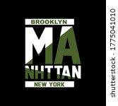 manhttan  new york  slogan...   Shutterstock .eps vector #1775041010