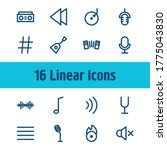 audio icon set and note lines...