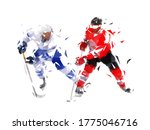 ice hockey. two hockey players... | Shutterstock .eps vector #1775046716