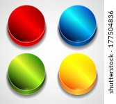 colorful web buttons set | Shutterstock .eps vector #177504836