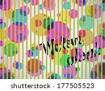 we love colors background with... | Shutterstock .eps vector #177505523