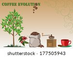 coffee evolution  | Shutterstock .eps vector #177505943