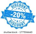 discount 20  blue grunge stamp | Shutterstock . vector #177506660