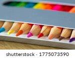 Colored Pencils In A Carton...