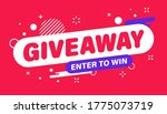 giveaway banner. post template. ... | Shutterstock .eps vector #1775073719