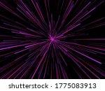 3d render of an abstract... | Shutterstock . vector #1775083913