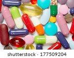 pills isolated on white... | Shutterstock . vector #177509204