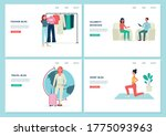 set of website banners for a...   Shutterstock .eps vector #1775093963