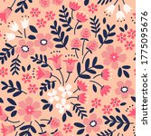 elegant floral pattern in small ... | Shutterstock .eps vector #1775095676