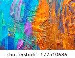 abstract art background. hand... | Shutterstock . vector #177510686