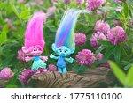 Cute Trolls On Summer Floral...