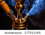 Water Pipe Hookah With Blue...