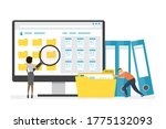 monitor display with yellow... | Shutterstock .eps vector #1775132093