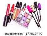 makeup set isolated on white... | Shutterstock . vector #177513440