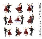 hungarian csardas folk dancer... | Shutterstock .eps vector #1775140046