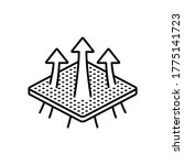 breathable textile   arrows... | Shutterstock .eps vector #1775141723