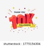 thank you 10k or 10 000 social...   Shutterstock .eps vector #1775156306