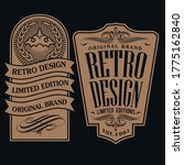 vintage and retro badge label... | Shutterstock .eps vector #1775162840