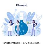 chemistry science concept.... | Shutterstock .eps vector #1775163236