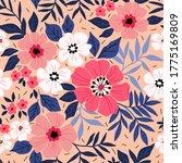 beautiful floral pattern in... | Shutterstock .eps vector #1775169809