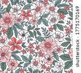 floral pattern. pretty flowers... | Shutterstock .eps vector #1775170169