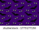 angry bats and cat eyes... | Shutterstock .eps vector #1775177150