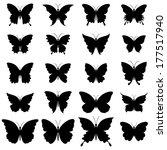 set of butterflies for design | Shutterstock .eps vector #177517940