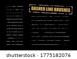 dashed line brushes vector set. ... | Shutterstock .eps vector #1775182076