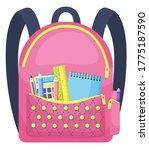 colored school backpack.... | Shutterstock .eps vector #1775187590